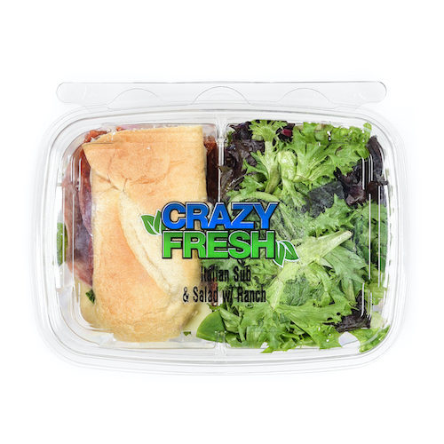 We're giving you the classic salad and sandwich lunch combo with our on-the-go Italian Sub & Salad with Ranch Deli Duo. It's a great lunch!