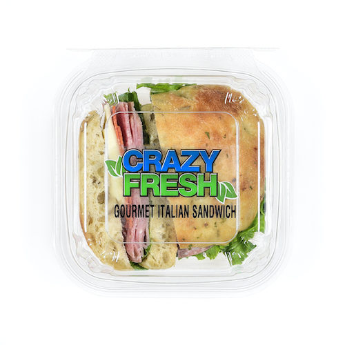 We've made an Italian sandwich gourmet by using premium ingredients such as schiacciata bread. This is a great lunch option!