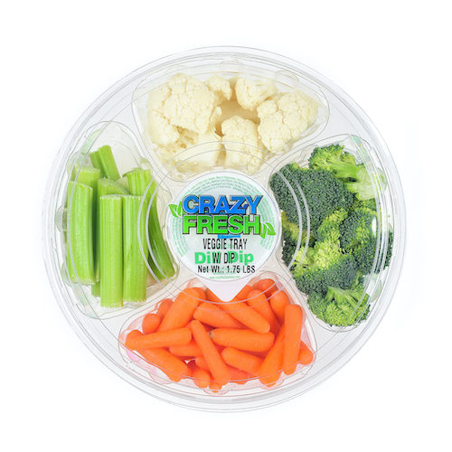 80929 Round Veggie Tray with Dip 1.75lbs