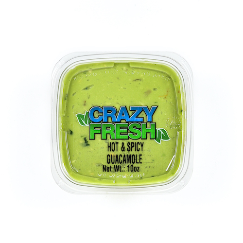 Our Hot & Spicy Guacamole has just the right amount of spice to add a kick to every bite. It's fresh, tasty and great for snacking!