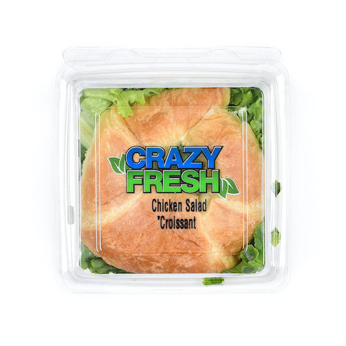 Creamy chicken salad inside of a croissant makes for a delicious and easy lunch. Find our Chicken Salad Croissant Sandwich in a store near you