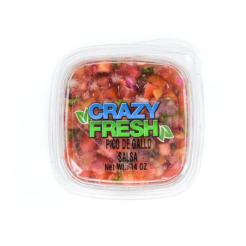 Our Pico de Gallo is a mild salsa that is perfect for the whole family. Use this on your tacos, over scrambled eggs or simply with chips!
