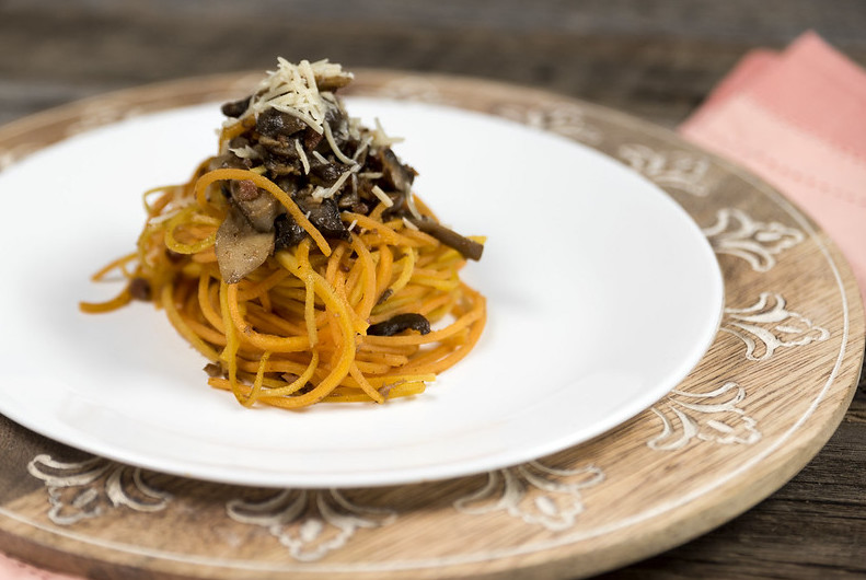 Butternut Squash Noodles with Mushrooms Recipe