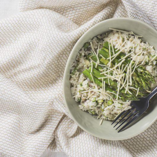 Creamy Asparagus & Mushroom Risotto
