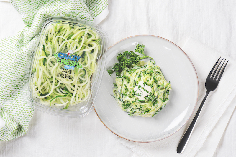 Crazy Fresh Alfredo Zucchini Noodles Recipe