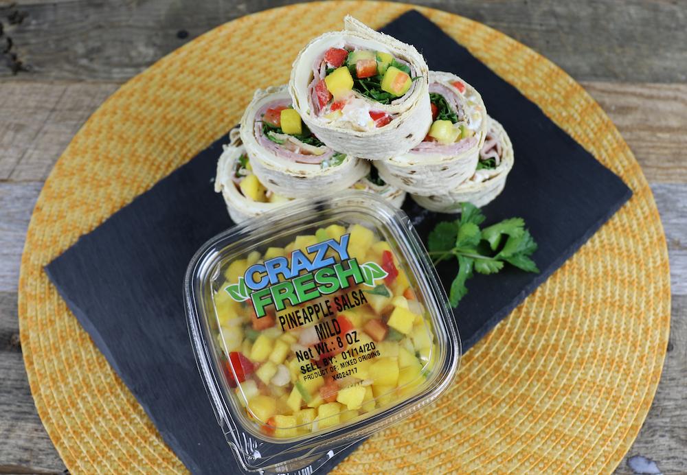 Pineapple Salsa Pinwheels Recipe