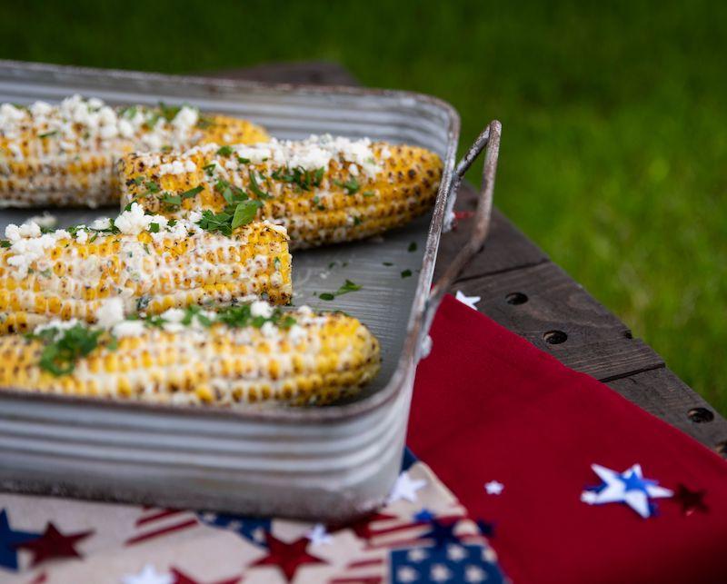 Salsa Verde Eloté Recipe made with salsa verde and fresh sweet corn