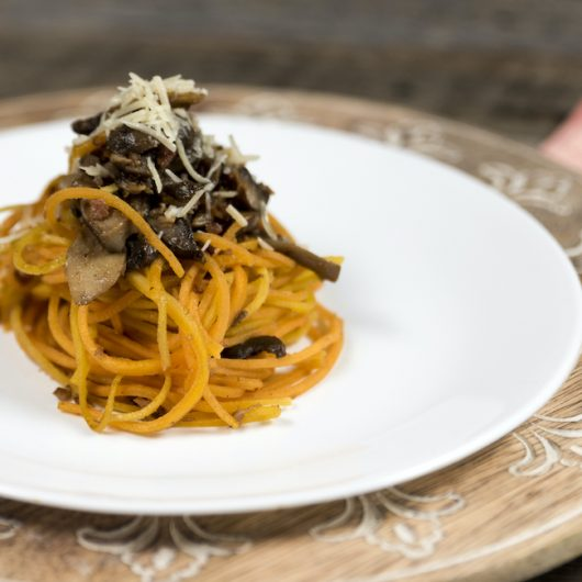 Squash Noodles with Mushrooms