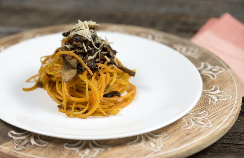 Squash Noodles with Mushrooms Recipe