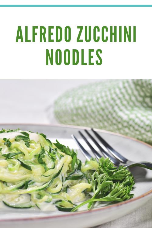 Crazy Fresh Alfredo Zucchini Noodles Recipe