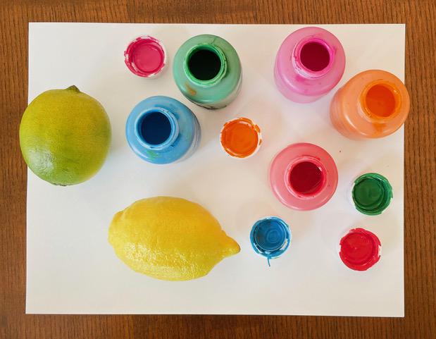 Kids Club DIY Citrus Stamps Materials