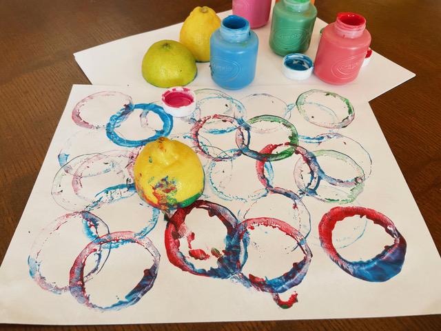 Kids Club DIY Citrus Stamps