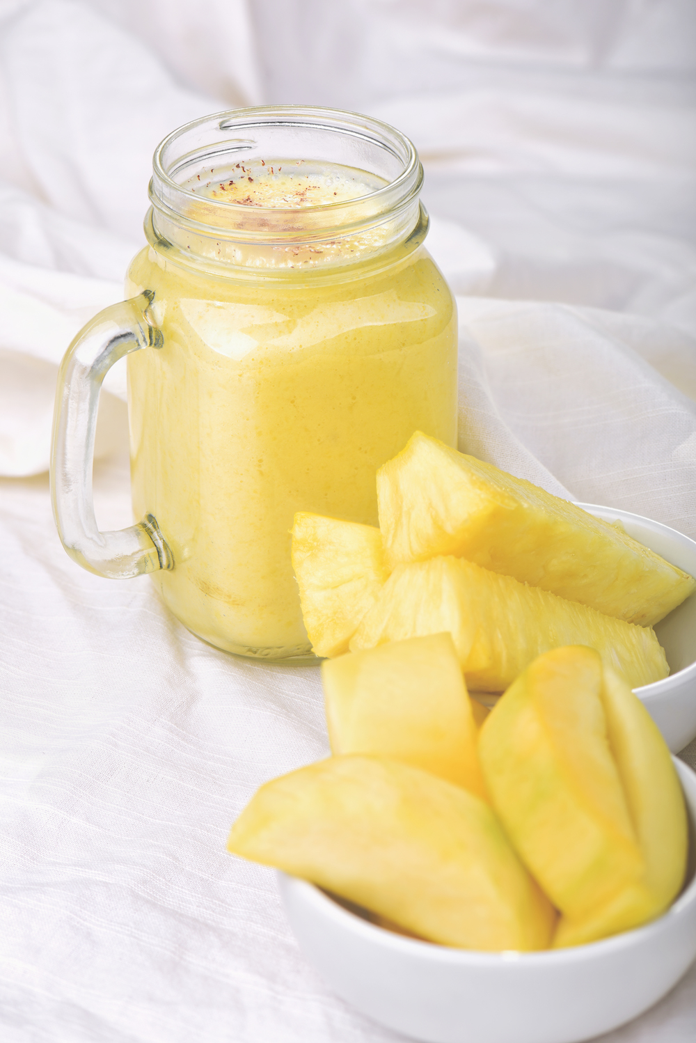 Organic Pineapple and Mango Smoothie