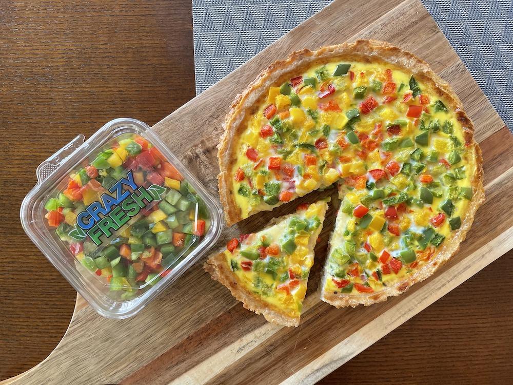 Rainbow Quiche Recipe
