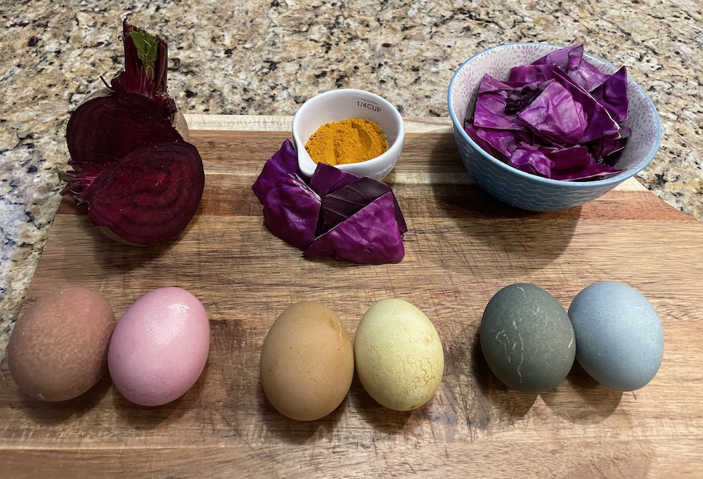 Dyeing Easter Eggs Naturally