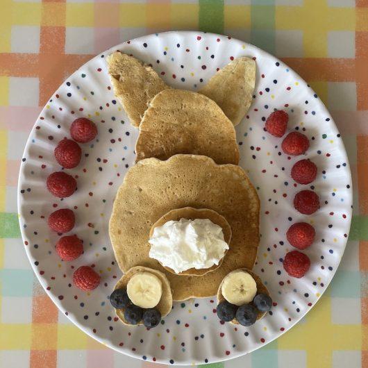 Kids Easter Bunny Butt Pancake Breakfast