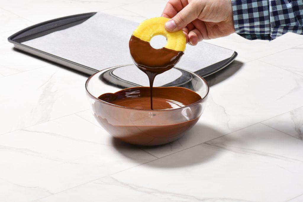 Chocolate Pineapple Pops